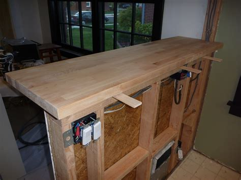 how to build bar top my stupid house building a sturdy half wall bar top