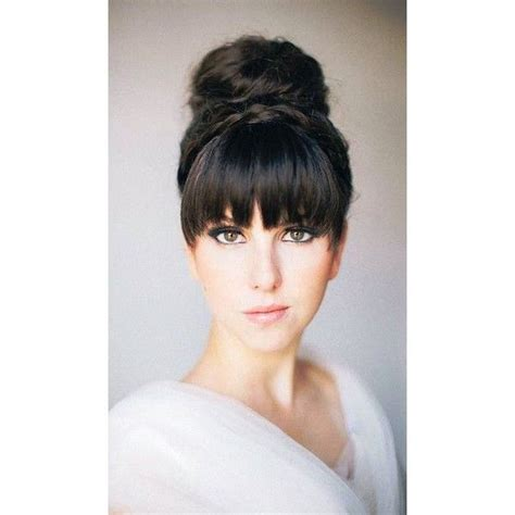 retro hairstyles bangs retro updo hairstyle with bangs hair and beauty pinterest