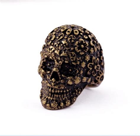 unique ring vintage skull skeleton rings jewelry gift on