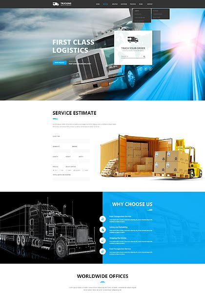 bootstrap themes transport transportation bootstrap template id 300111907
