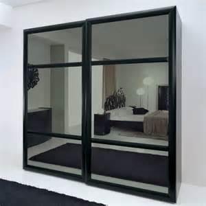 Black Sliding Closet Doors by Bedroom Great Home Furniture Design With Mirrored Sliding Door Bedroom Closet Using Black Frames