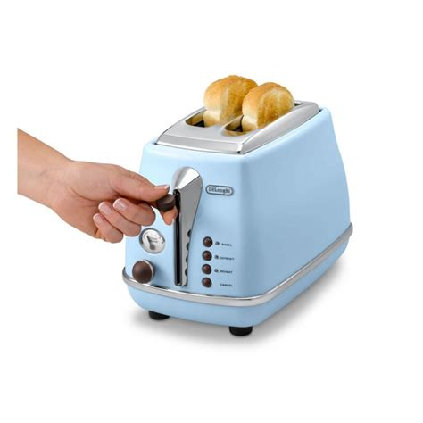 Pale Blue Toaster Delonghi Toaster 900w Light Blue Color Ctov2003 Az