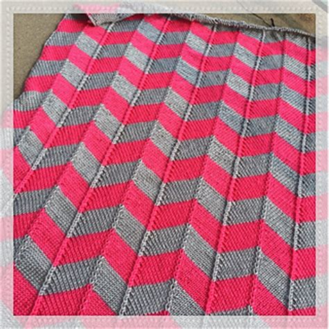 two color baby blanket knitting pattern ravelry chevron baby blanket pattern by leann brown