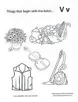 letter v coloring pages preschool print out coloring pages