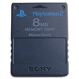 Memory Card Mc Ps2 8mb Hitam playstation 2 ps2 used memory card 8mb