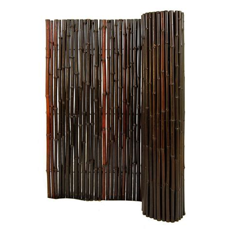 Bamboo Fence Roll Home Depot by Shop Backyard X Scapes 96 In W Mahogany Bamboo Outdoor