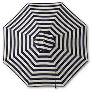 Black And White Striped Patio Umbrella Teak Stripe Market Umbrella Traditional Outdoor Umbrellas By Lands End