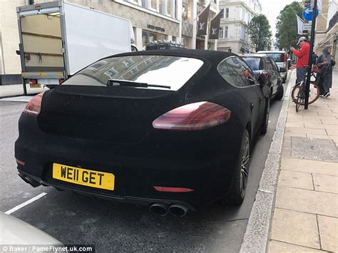 porsche velvet porsche panamera spotted in central london with a black