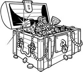 sunken treasure chest coloring page images