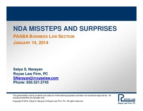 business law section paaba business law section nda misssteps and surprises