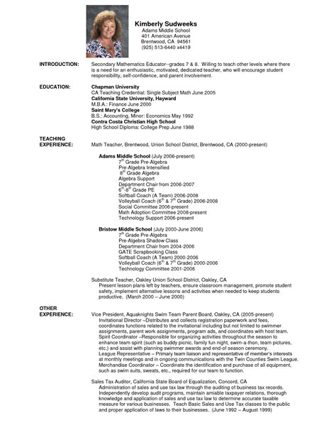 Resume Sles For Maths Teachers In India Doc 12751650 Resume Math Coach Resume Resume Skills For A Cv Resume Bizdoska