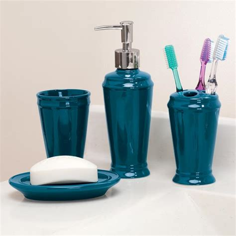 Bathroom Accessories Set Uk Ceramic Bathroom Set Blue Bathroom Set Walter