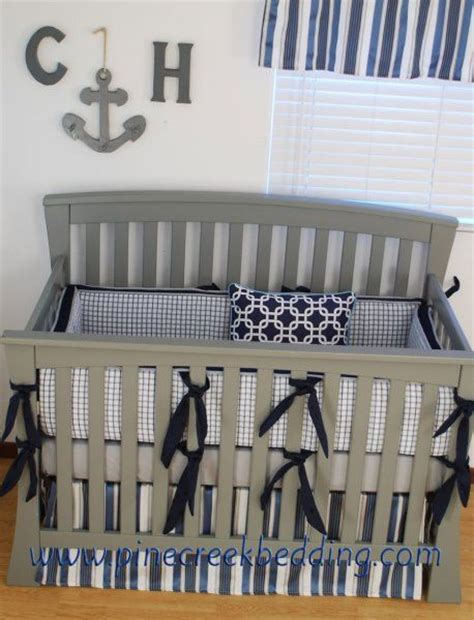 Navy Boy Crib Bedding Grey And Navy Crib Bedding Grey Crib Bedding Pinterest Cherries Grey Crib And Grey