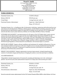 usa resume template exles of resumes professional federal resume format
