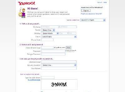 yahoo email join setting up a yahoo mail account howstuffworks