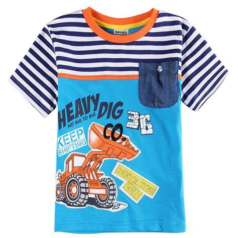 shirt pattern child 2016 new summer boys clothes kids clothing print digger
