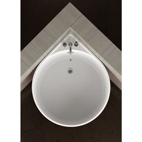 mini vasca da bagno vasca da bagno angolare rotonda mini white glass design