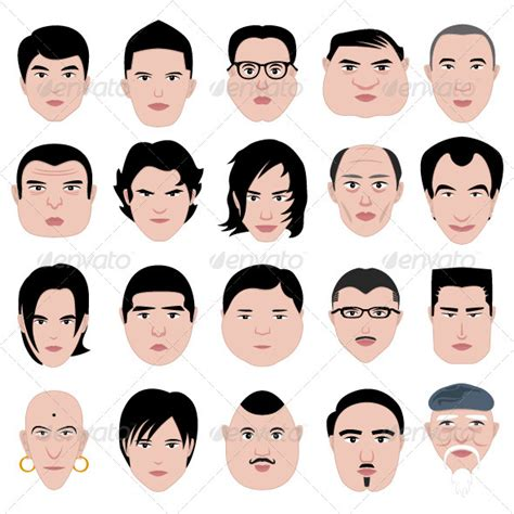 different head shapes men man face head shape hairstyle round fat thin old head