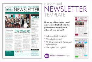 One Page Newsletter Template by Customise A Newsletter Template In Indesign Fiverr