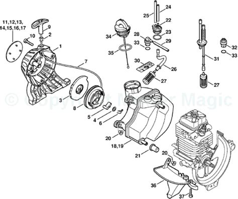 stihl fs100rx parts diagram stihl trimmer fs 100 rx parts diagram