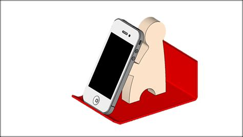 One Shanks Acrylic Stand 2d design journal sos step by step guide to draw a phone holder using sketchup 8