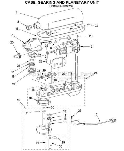 Parts for KT2651XWW3   Kitchenaid   Mixers