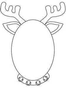 Reindeer cut out template best photos of reindeer antler pattern