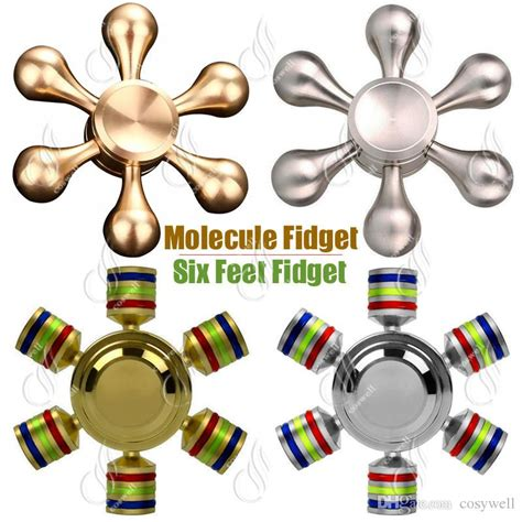 Metal Brass Fidget Spinner Hexagon 2 6sisi Spinner top hexagon molecule fidget spinner spinners brass aluminum alloy cnc six angle finger