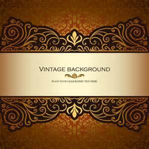vintage floral luxury background vectors free vector in