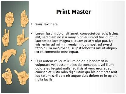 ppt templates for language hand gestures sign language powerpoint template background