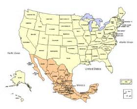 Usa Mexico Map by Usa Canada Mexico Map Quotes