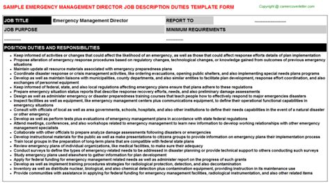 Emergency Description by Emergency Management Director Descriptions Sles
