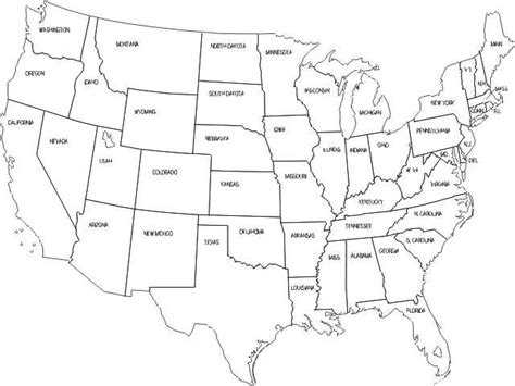 coloring pages us map coloring pages for united states