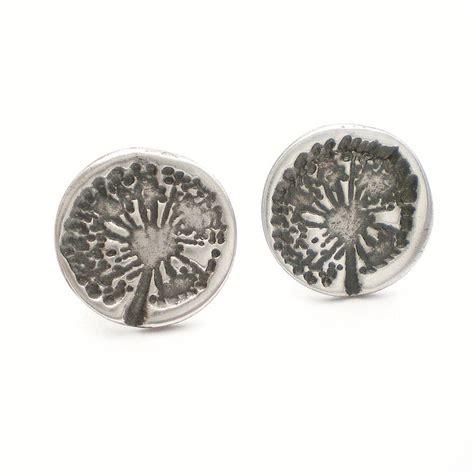 dandelion wish silver stud earrings by ali bali jewellery