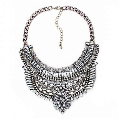 2016 new rhinestone wholesale big pendant necklace in