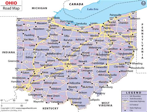 ohio in usa map haberciyiz ohio map