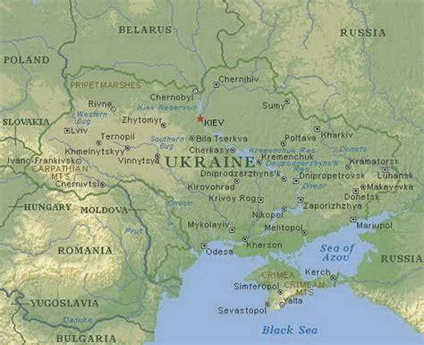 physical map of ukraine maps of ukraine