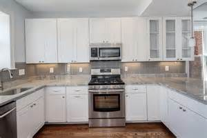 pictures of kitchen backsplashes with white cabinets kitchen tile backsplash pictures white cabinets home