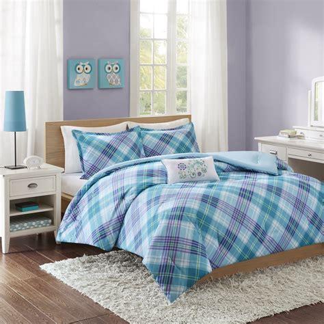 teal and purple comforter sets teal blue plaid comforter set bed bedding