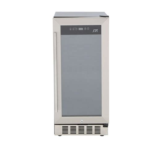 under cabinet beverage refrigerator spt under counter 32 bottle wine and beverage cooler wc