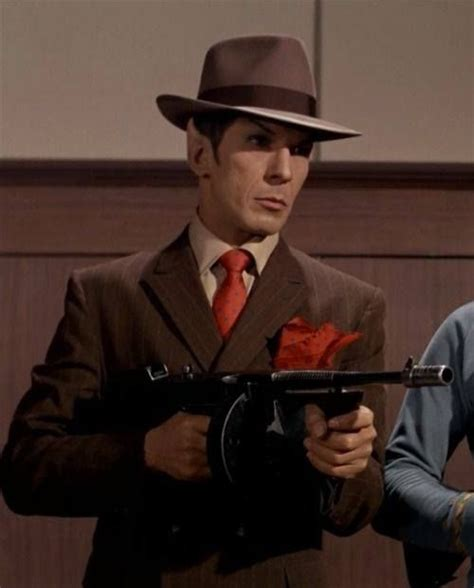 mr spock as a gangster star trek pinterest