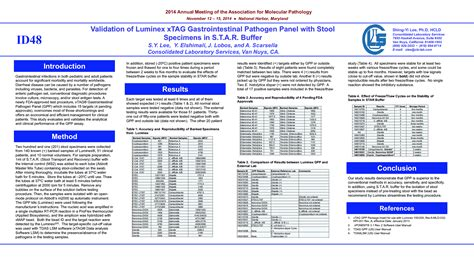 xtag 174 gastrointestinal pathogen panel posters