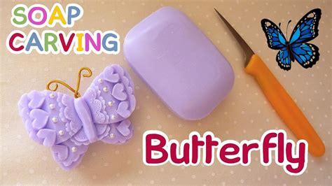 cara membuat kerajinan tangan mudah dan praktis soap carving butterfly easy how to carve real sound