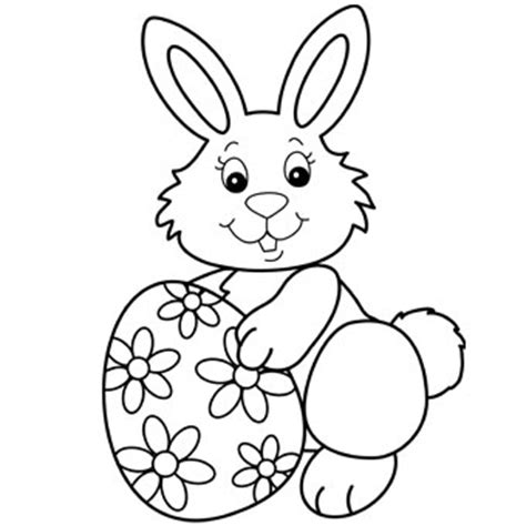 Easter Bunny Coloring Pages Easter Bunny With Egg Free N Fun Easter From Oriental by Easter Bunny Coloring Pages