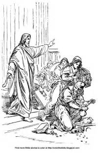 coloring page jesus and the money changers color the bible