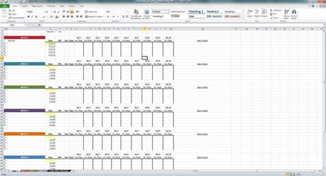 Spreadsheet Risk by Weight Weight Lifting Template Excel Lifting Template