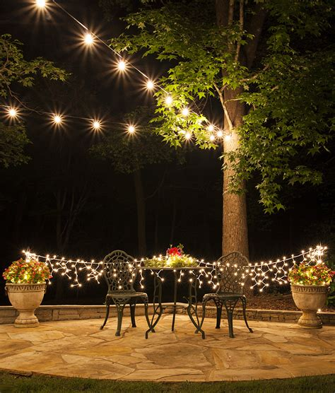 lights on patio how to plan and hang patio lights