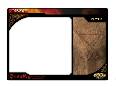 powers card template skyzm hoe hell power card template by davywagnarok on