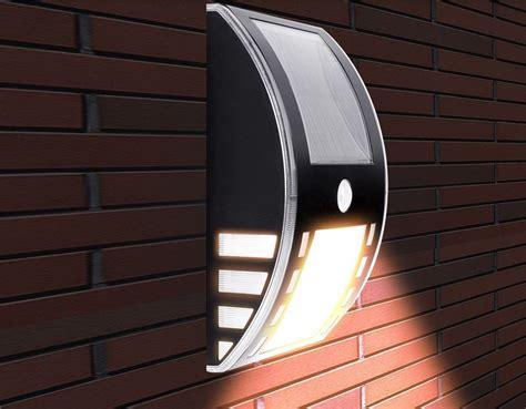 bright solar wall lights atk bright solar power led wall light energy saving black