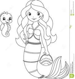mermaid coloring royalty free stock image image